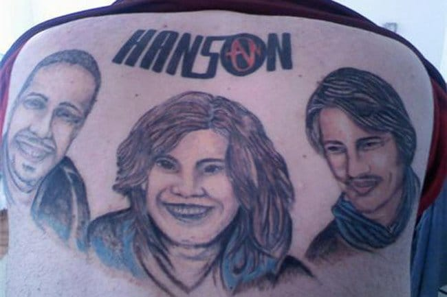 A sad attempt in doing a portrait of Hanson. Seriously guys, save yourselves from horrible tattoos such as these.