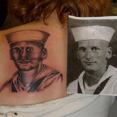 Fail portrait tattoo