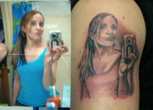 Ridiculous selfie tattoo