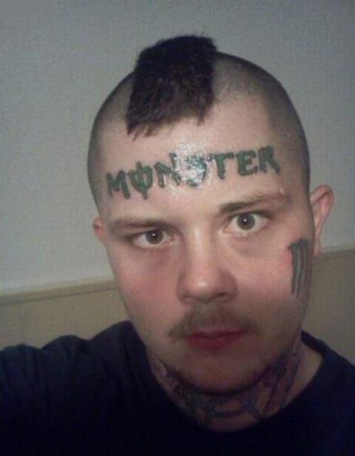 Monster Energy Drink fail tattoo