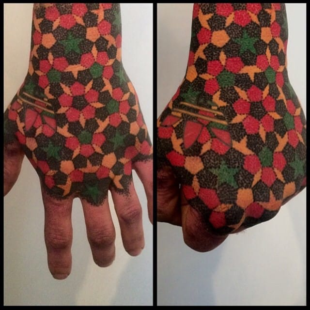 Pattern hand by Wink Evans. #winkevans #patterns #pattern #patterntattoo #patterntattoos
