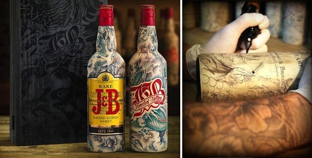 15 Fine Wine & Spirits In Stunning Tattoo Packagings!