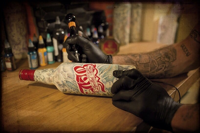 Tattooed Bottles: Tattoo Artist Inks Up 25 Scotch Whiskey Bottles