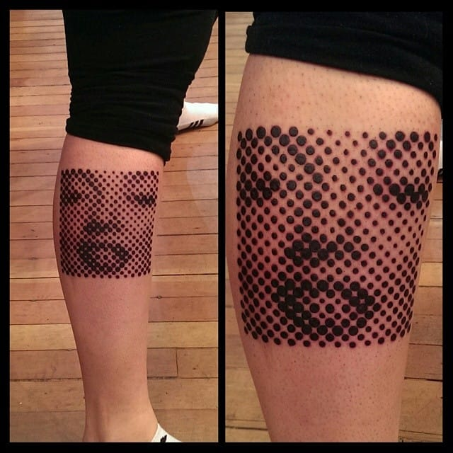 Halftone is all about trendy optical illusion. ByPennyBlackTattoo.