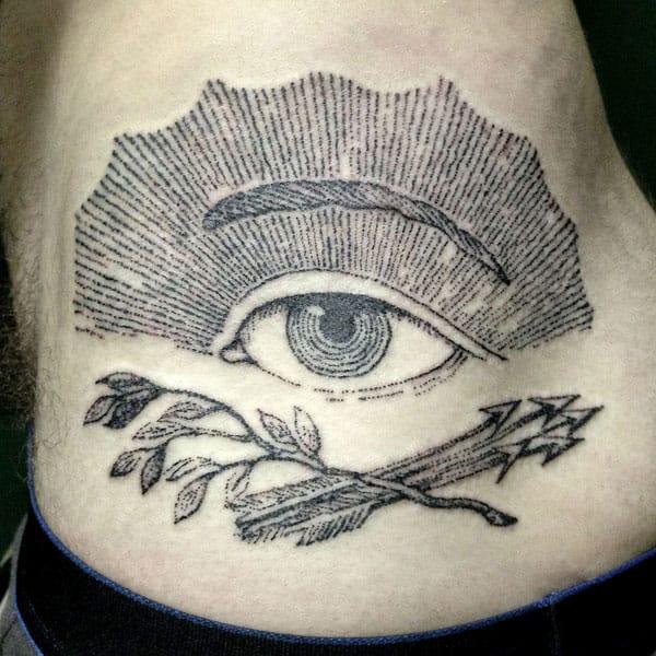 Stick and poke tattoo featuring an eye #stickandpoke #handpoked #eye