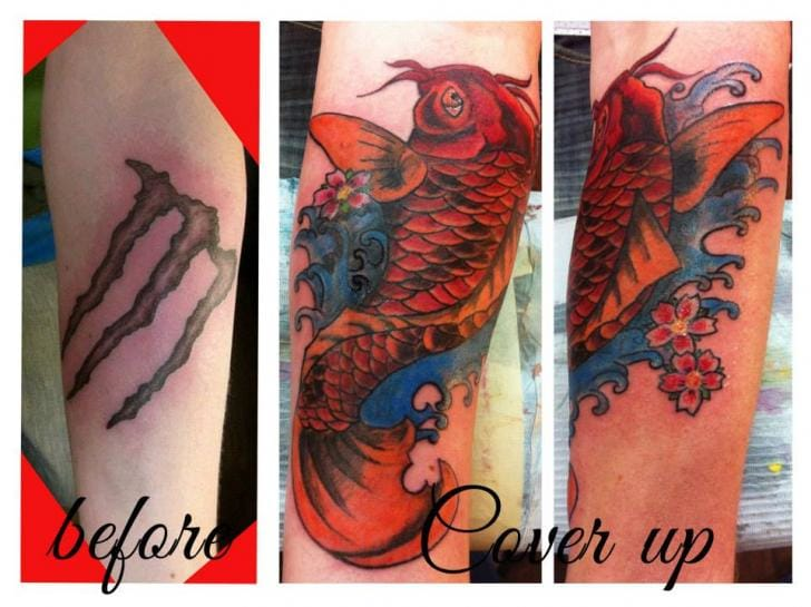 Cover-up Japanese Tattoo by Skin Candy Tattoo