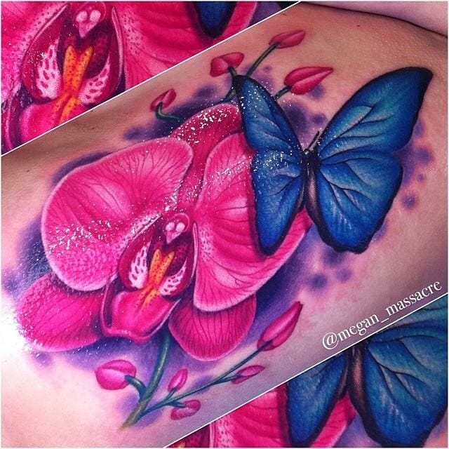 Vivid piece by our own Megan Massacre!  #Butterfly #ButterflyTattoo