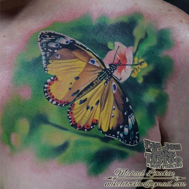 Fantastic realism by Michael Litovkin...  #Butterfly #ButterflyTattoo