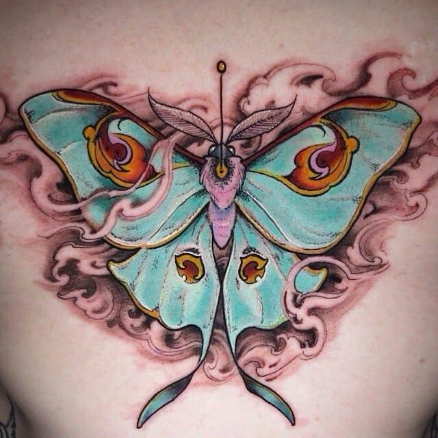 Impressive piece by Shawn Hebrank...  #Butterfly #ButterflyTattoo