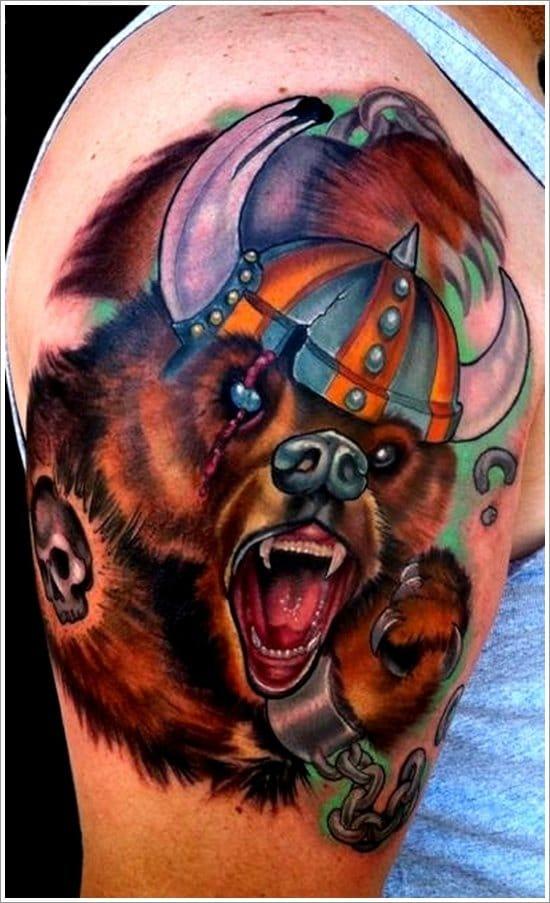 Urso viking! (Sabe o nome do artista? Conte para a gente nos comentários)