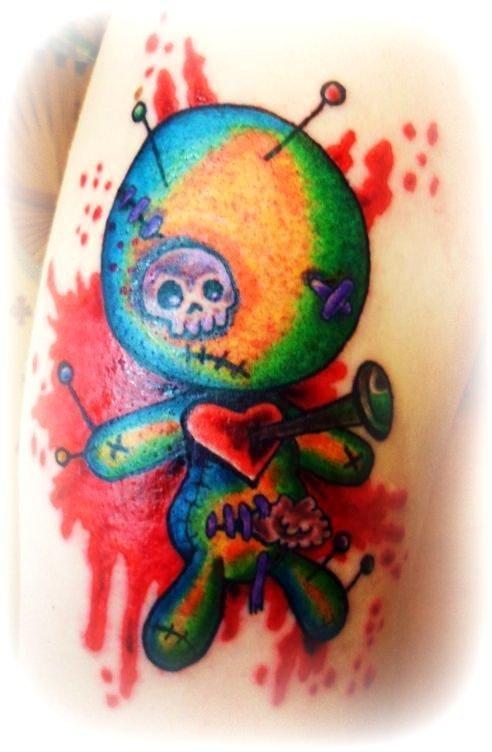 Aquarela sangrenta de Cherry Blossom Tattoo