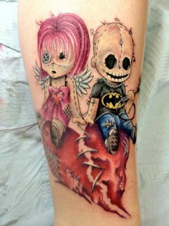 Ideia genial para tatuagem de casal! Skyann James