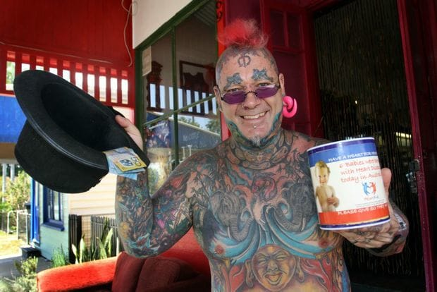 Awesome Guy Combines Tattoos And Charitable Spirit To Raise $100,000!!
