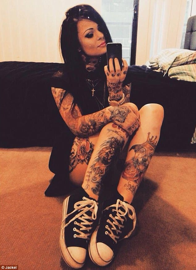 A lot of hate has fallen on Jackel's tattoos... Not really sure why, they're AWESOME!!