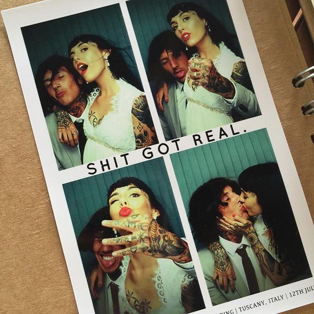 Singer Oliver Sykes and Tattoo Artist Hannah Snowdon