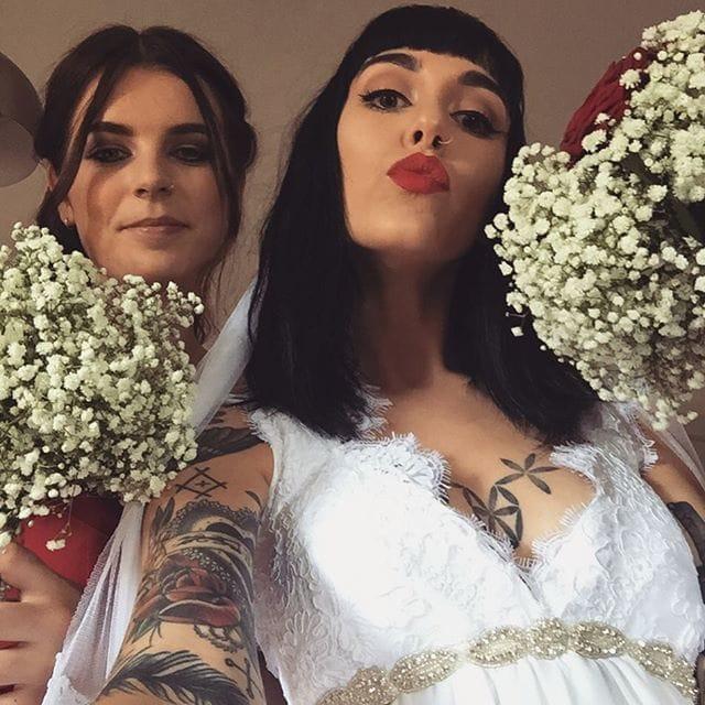 Tattoo Artist Hannah Snowdon gets married