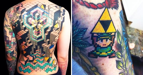 25 geekiest gamer tattoos tattoodo for Tattoo shop games