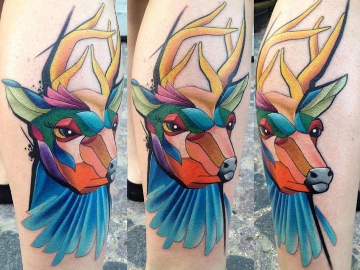 Deer Tattoo by Mefisto Tattoo Studio