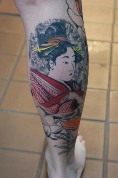Geisha Japanese Tattoo by Iron Age Tattoo