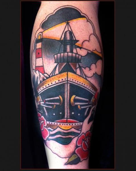 Boat Old School Tattoo by Chapel Tattoo