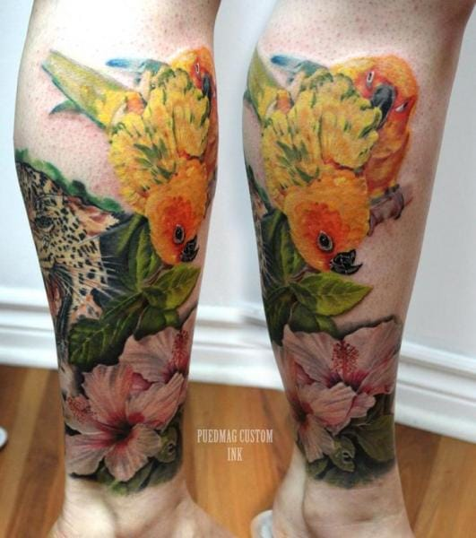 Seven styles for a kickass calf tattoo tattoodo for Custom ink tattoos