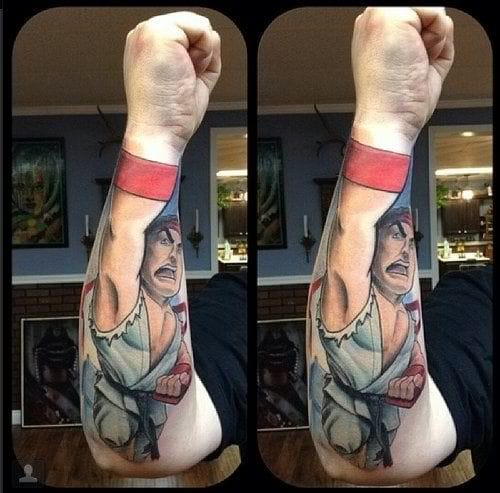 Awesome idea! It's Ryu from Street Fighter! KAPOWWW!!!