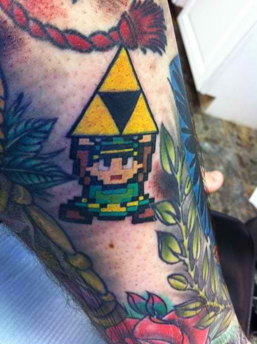 This is a cute filler for a sleeve tattoo. From the Legend of Zelda. :)
