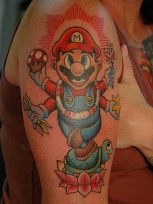 Cute mario tattoo