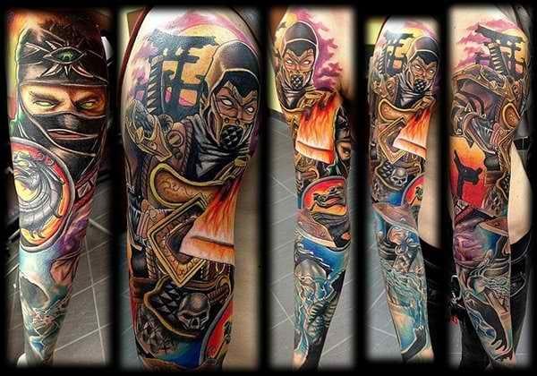 Mortal Kombat full sleeve! WOW!