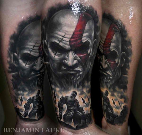 Kratos from God of War by Benjamin Laukis.