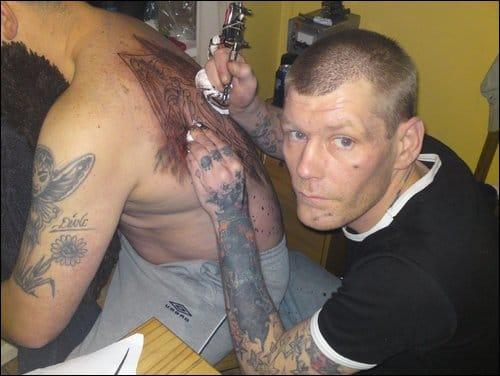 tattoo in process