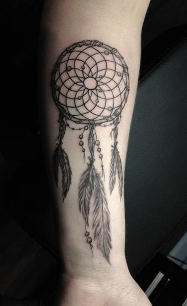 Great Dreamcatcher Tattoo by Rainfire Tattoo #dreamcatcher
