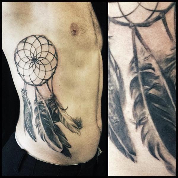Dreamcatcher Tattoo, artist unknown. #dreamcatcher
