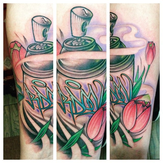 By Dufers Uno. spray can tattoos