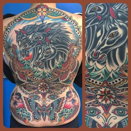 Amazing back piece by Steve Byrne