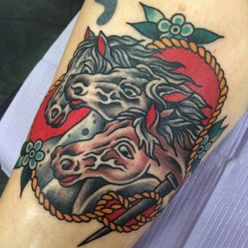 Old school tattoo by Benjamin Hart