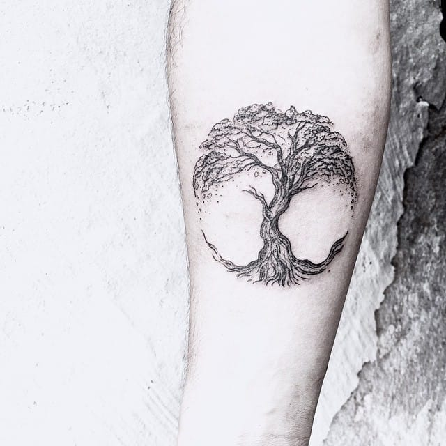 Nature themed tattoo