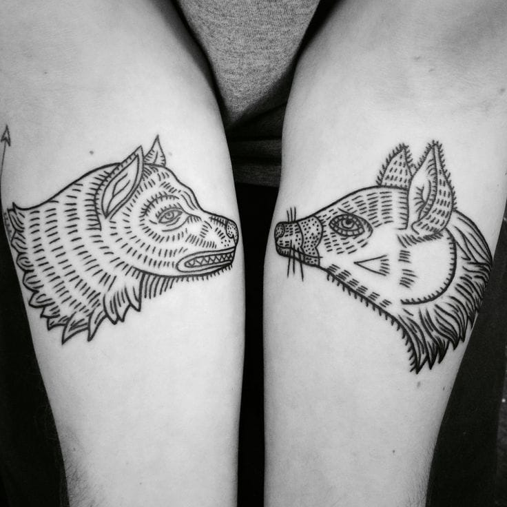 Animal linework tattoo