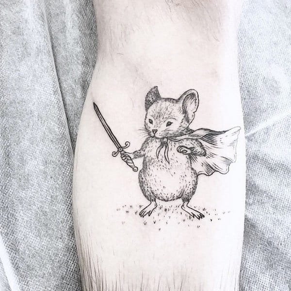 Sweet animal fighter tattoo