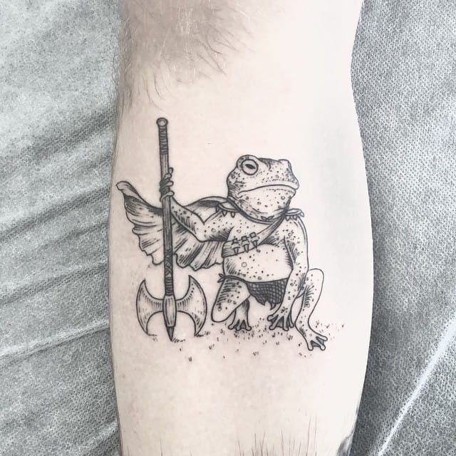 Frog fighter tattoo
