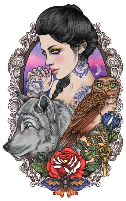 Beautiful tattooed lady