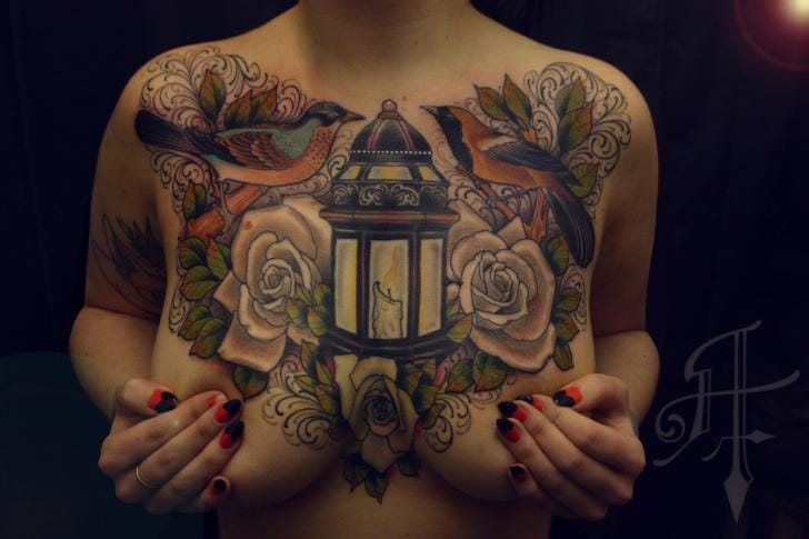 Awesome chest piece by Anthony Tattoo