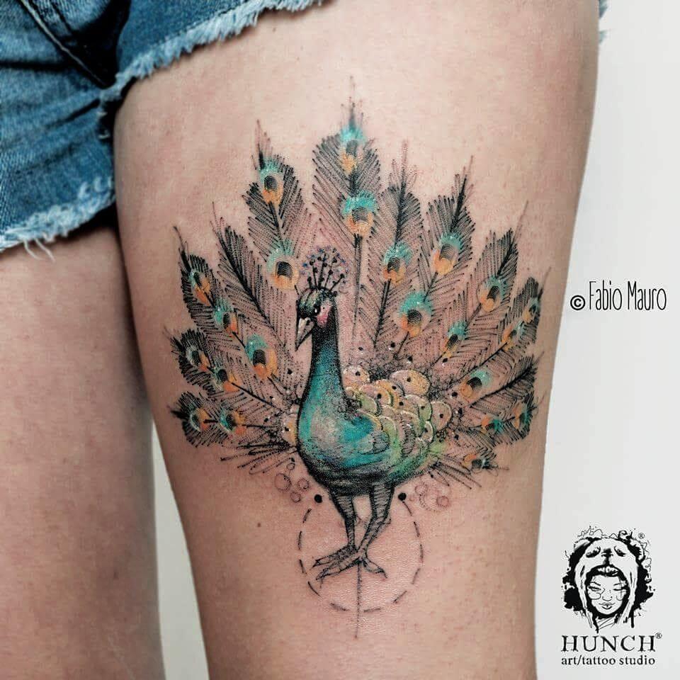 Gorgeous peacock by Fabio Mauro!