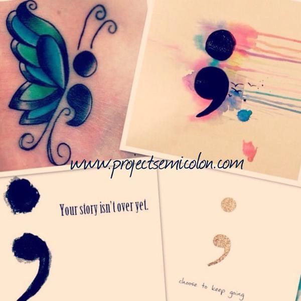 Semicolon tattoo designs