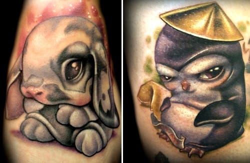 50 Fun And Cute Animal Tattoos