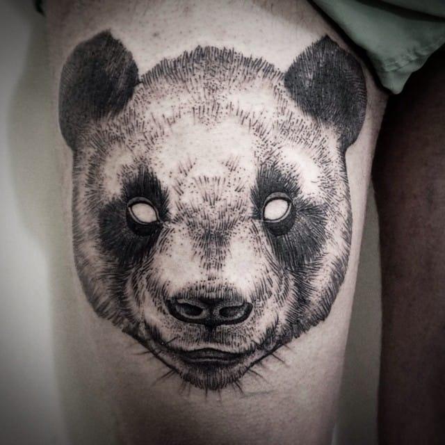 Panda dotwork