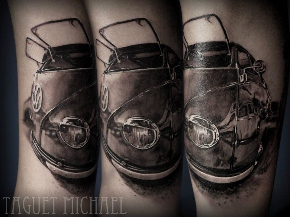 Cool tattoo by Michael Taguet.