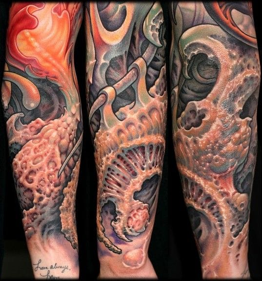 One of the masters of bio organic tattoos, Nick Baxter.