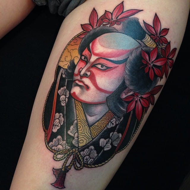 10 Gorgeous Tattoos Inspired By Japanese Kabuki Theater