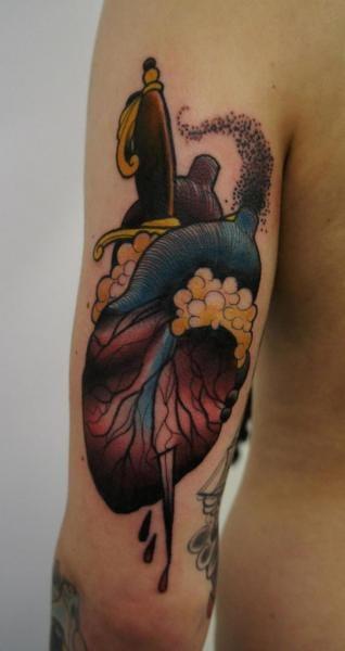 Dagger Heart Tattoo by Matt Adamson